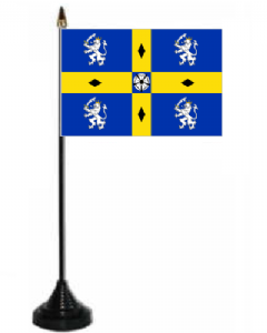 Durham Desk / Table Flag with plastic stand and base.